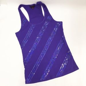 GLO Sparkle Tank top with Sequins;  Sz. XL